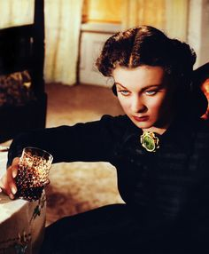 Vivien Leigh as Scarlett O'Hara Kennedy who has been widowed for the 2nd time in Gone With The Wind (1939)