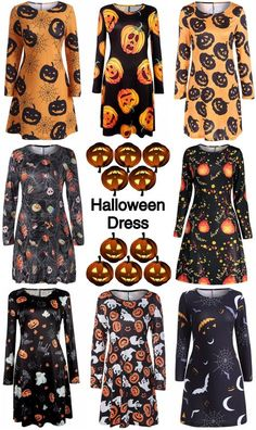 Happy Halloween | Start at $7 | Halloween Swing Dress| Sammydress.com