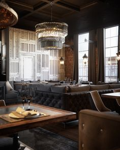 The new project of the restaurant in the style of luxury and loft - Галерея 3ddd.ru