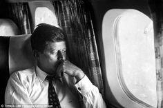 JFK, alone on his private plane