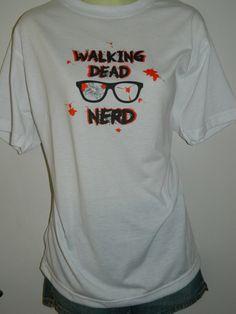 Walking Dead NERD TShirt The Original Fan Art Tee $24.99