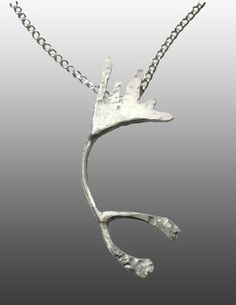 Upcycled sterling silver necklace that supports protecting the Gwich'in people & the Arctic National Wildlife Refuge from oil drilling
