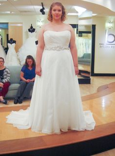 Season 7 Featured Dresses, Part 8. James Clifford. Ivory. Crystal organza. Strapless with slight scoop neckline. Ruched bodice with beaded belt around natural waist. Modified A-line skirt. $2,727.00. #Weddings #SYTTD.