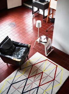 love the red floor tiles
