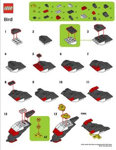 LEGO MMMB - March '11 (Bird) Instructions | Flickr - Photo Sharing!