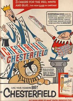Chesterfield Cigarettes (1947): kids love the cartoons...and the nicotine!