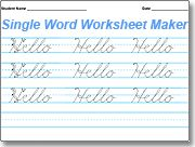 worksheet maker