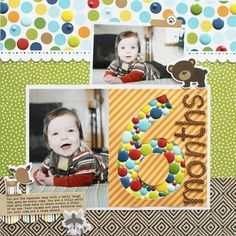 Bella Blvd Enamel Dots-6 Months Layout by Shelly Jaquet.