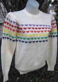 I remember rainbow heart sweaters!