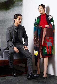 Liu Wen and Zhao Lei Model Fall Winter Styles for Erdos