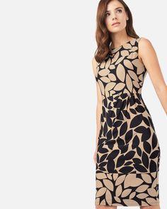 Phase Eight Leora Leaf Print Dress Black Phase Eight, Leaf Prints, Dress Black, High Neck Dress, Dresses, Fashion, Party Outfits, Vestidos, Turtleneck Dress