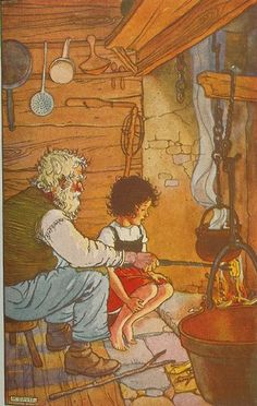 LOVED this story as a child!  Read it over and over!!  From Heidi by Johanna Spyri ill by M. Davis