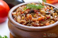 Receita de Antepasto de beringela com pimentão em receitas de molhos e cremes, veja essa e outras receitas aqui!