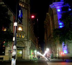 Calle Reconquista en Plaza de Mayo, Buenos Aires de noche