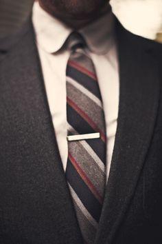 That short silver tie bar...#timeless