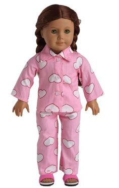 Doll Clothes 2pc Pink Sleepwear Pajamas Fits 18 Inches American Girl Dolls sweet dolly http://www.amazon.com/dp/B00JEACDQG/ref=cm_sw_r_pi_dp_DFvhwb04AW4GT Harley (just outfit)