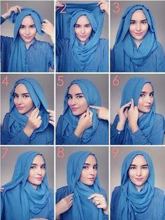 Simple hijab tutorial by zahratuljannah .. do it easily