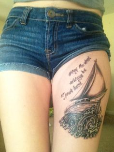irish blessing thigh piece.