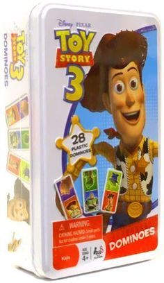Disney / Pixar Toy Story 3 Dominoes Game In Tin - What a fun way to learn matching! New and in original tin. Ships fast with tracking number and signature confirmation.  - http://ehowsuperstore.com/bestbrandsales/toys-games/disney-pixar-toy-story-3-dominoes-game-in-tin