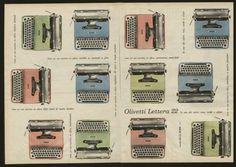 Pubblicità di Giovanni Pintori per la macchina da scrivere Lettera 22, 1961