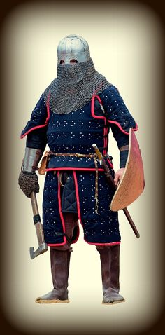 Medieval knight warrior of the Golden Horde