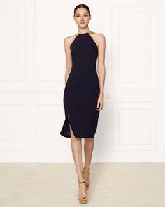 Stretch-Wool Silvia Dress - Collection Apparel Evening Dresses - RalphLauren.com