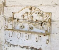 Wall ShelfVintage Inspired Wall ShelfMetal by ColorfulCastAndCrew