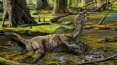 Tongtianlong limosus artist's illustration (Zhou Chuang)  Mud dinosaur in China found  http://www.foxnews.com/science/2016/11/11/mud-dragon-dinosaur-unearthed-in-china.html