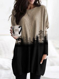 Burgundy Leggings, Estilo Grunge, Winter Stil, Mode Outfits, Printed Sweatshirts, Look Fashion, Trendy Fashion, Pulls, Ideias Fashion