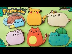 How to Make Pushemon Icing Cookies! - Ari Kitchen - YouTube