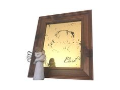 Custom Portrait -  Gilded Mirror - Silhouette - 22k Gold Leaf - 8x10 Wood Frame- Distressed Mirror - Personalized Gift by prettySpeigel on Etsy