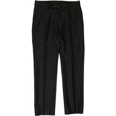 Pre-owned Gucci Striped Wool Pants ($110) ❤ liked on Polyvore featuring men's fashion, men's clothing, men's pants, men's dress pants, blue, mens blue dress pants, mens wool pants, mens blue pants, mens dress pants and mens striped pants