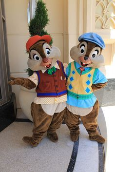 *CHIP 'N' DALE Remember when you had your 5th birthday breakfast with them at Give Kids the World in FL?