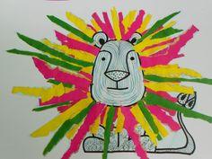 Manen scheuren met kleuters New Year's Crafts, Circus Art, Craft Activities For Kids, Elementary Art, My Animal, Animals For Kids, Art Lessons, Kids Playing, Lions