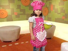 Este avental e chapéu de cozinheiro infantil vai fazer o maior sucesso entre os pequenos. E você pod