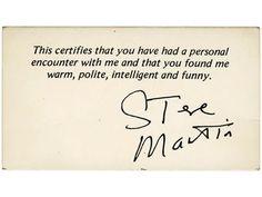 Steve Martin – Calling Card
