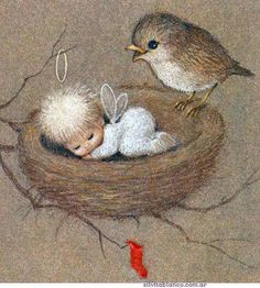 Los pequeños pensamientos de navidad, Ruth Morehead, material uso escolar, ilustraciones de navidad