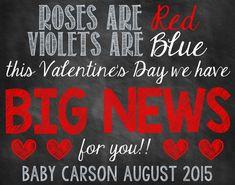 Valentine's Day Pregnancy Announcement Valentine's Day Pregnancy Reveal Big News