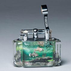 Superb Dunhill Aquarium lighter c.a 50's One at a type - Call Danilo 0039 335 6815268