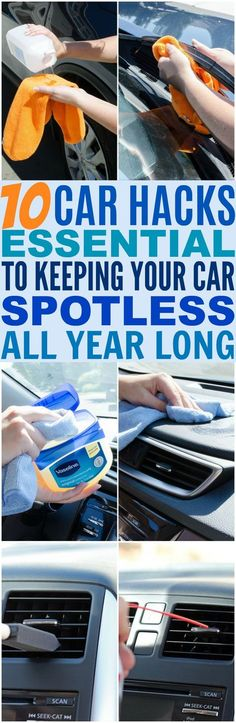 These 10 Car Hacks Are So EASY and Quick! I take a lot of pride in keeping my car as clean as possible so that not only guests are comfortable but I get to ENJOY my big investment. You're in your car a lot of your life traveling so might as well enjoy it!