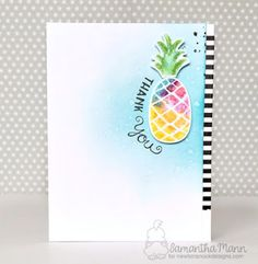 Thank You Pineapple card by Samantha Mann | Pineapple Delight stamp set by Newton's Nook Designs #newtonsnooks