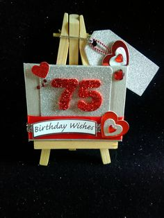 Special birthday easel card keepsake gift for 18th 21st 16 30 40 50 60 65 70 75 80 90 100 by TreensTrinkets on Etsy