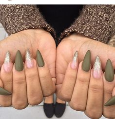 Olive nails! Love this color