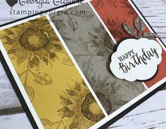 Paper Crafts Magazine, Sunflower Cards, Stampin Up Cards, 3d Cards, Folded Cards, Hand Stamped Cards, Fall Cards, Holiday Cards, Stampin Up Catalog