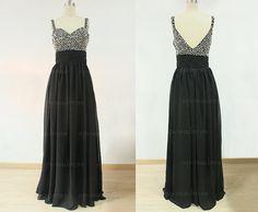 Cheap prom dress black prom dress long homecoming by sposadress, $149.00