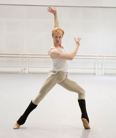 Royal Ballet Principal Steven McRae rehearsals
