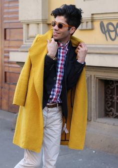 The Yellow Outfit: http://wannabemag.com/onurerol/2015/03/07/the-yellow-outfit/ #mfw #milanfashionweek