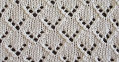 STITCH OF THE MONTH - November 2014 The Van Dyke stitch is essentially a lace chevron design. This variation staggers the v-shaped eyelets. Lace Knitting Stitches, Baby Boy Knitting Patterns, Baby Knitting, Lace Patterns, Stitch Patterns, Scarf Patterns, Creative Knitting, Diy Scarf, How To Purl Knit