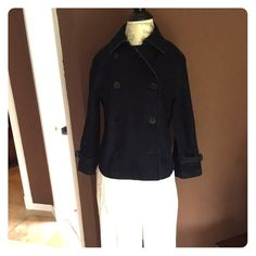 9/10 DEAL of the Day! Was $52 Ralph Lauren jacket Waist length double breasted jean jacket. 3/4 length sleeves with buckle above the hem. Slash pockets, raglan sleeves. Cotton (denim) worn twice.     Please no additional discount on the Deal of the Day! Thank you!!💋 Ralph Lauren Jackets & Coats Jean Jackets