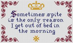 """""""Sometimes spite is the only reason I get out of bed in the morning."""" - Kelly Sue DeConnick"""